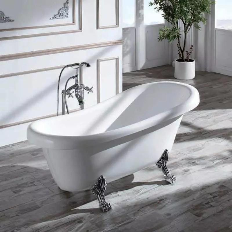 baignoire ilot ovale acrylique blanc 150x72 cm prague
