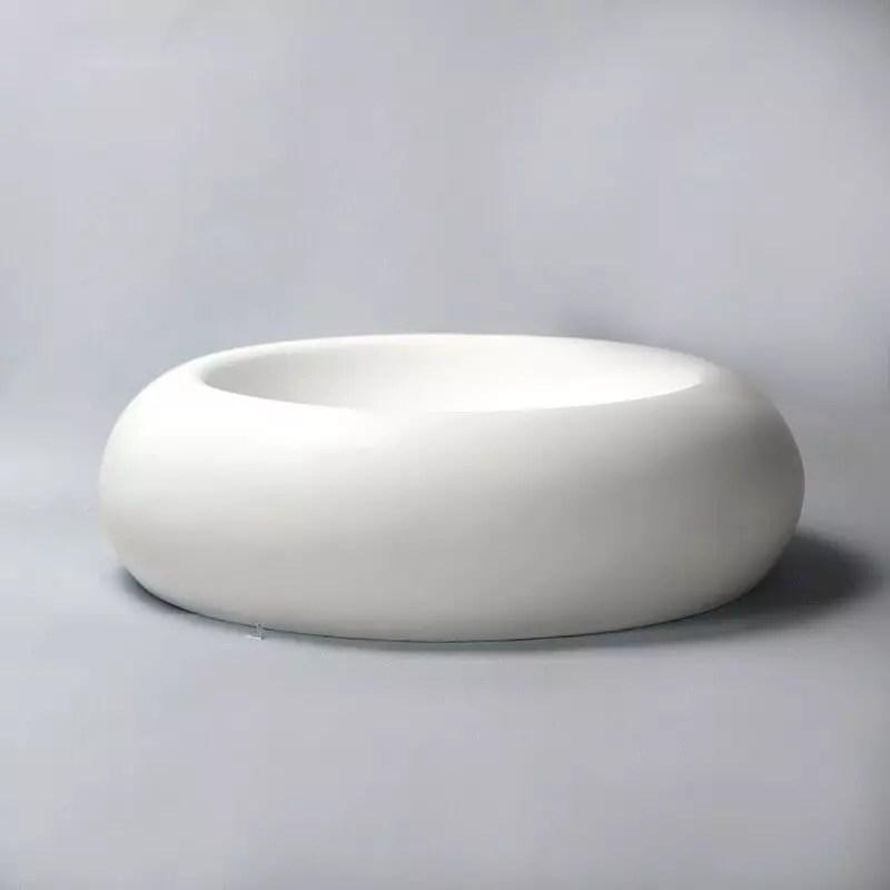 Vasque Poser Galet Blanc Mat Allure Vasques Composite