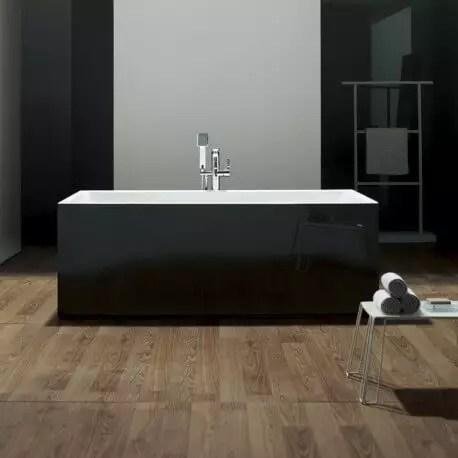 baignoire ilot rectangulaire acrylique noir 170x80 cm london