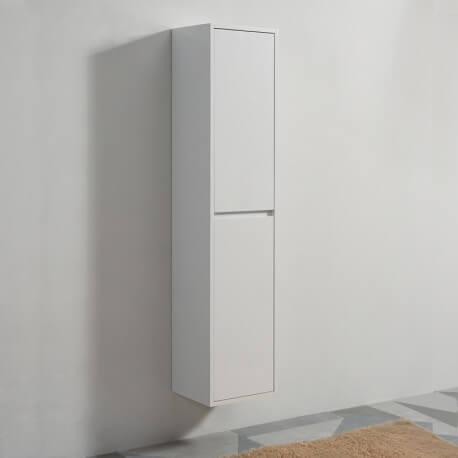 colonne de salle de bain 2 portes blanc 160x35x30 cm city