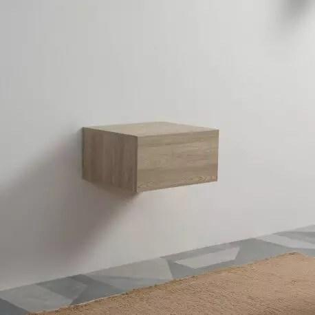meuble de rangement 1 tiroir facade mdf 19 mm plaque en bois 60x50 cm tendance