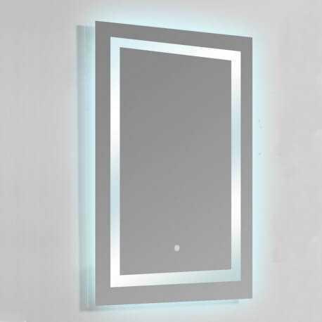 Miroir Salle Bain Rectangle Eclairage Led Allumage Tactile Connec T60