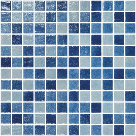 mosaique bleu riviere pate de verre rue du carrelage