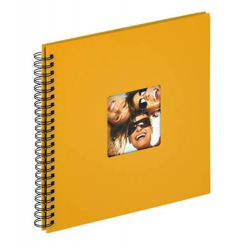 album photo a spirales 50 pages fun l 30 x l 30 cm jaune