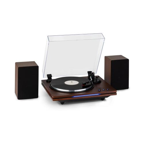 platine vinyle auna tt play plus enceintes stereo 3 vitesses de lecture