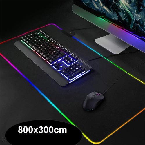 cabling rgb tapis de souris gaming surdimensionne led lumineuse rgb tapis de