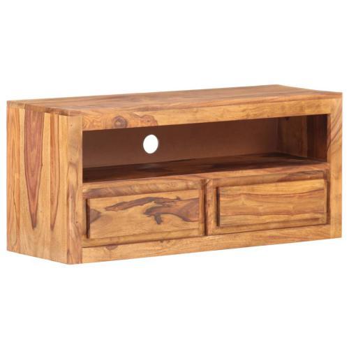 contemporain meubles reference victoria meuble tv 90x30x40 cm bois massif