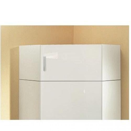 sur meuble armoire dressing d angle malta laque blanc casse 80 x 80 cm