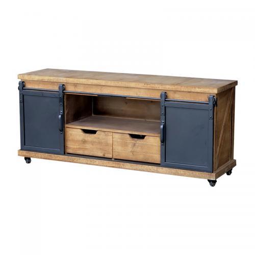 meuble tele tele tv bois fer industriel 140 cm x 62 cm x 39 cm