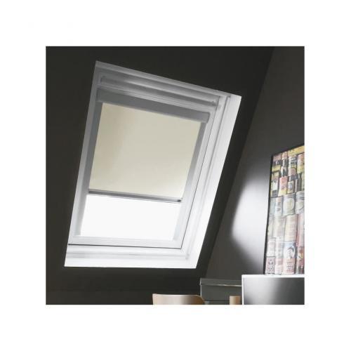 store de fenetre de toit occultant beige velux m04 l 78 x h 98 cm madeco