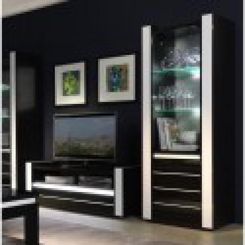 ensemble pour votre salon lina meuble tv hifi vitrine petit modele led