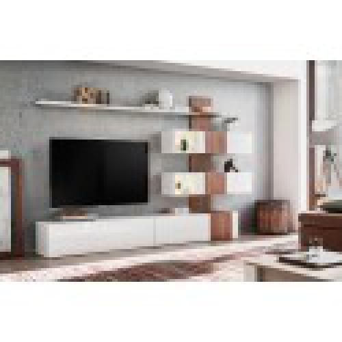 meuble de salon complet meuble tv quizz composition murale moderne et design