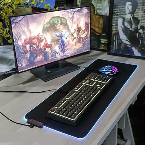tapis de souris led pour mac pro apple clavier bureau 7 couleurs deperlant