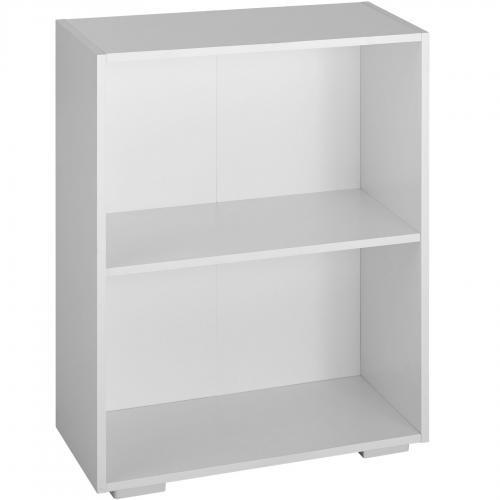 bibliotheque lexi 2 etageres blanc