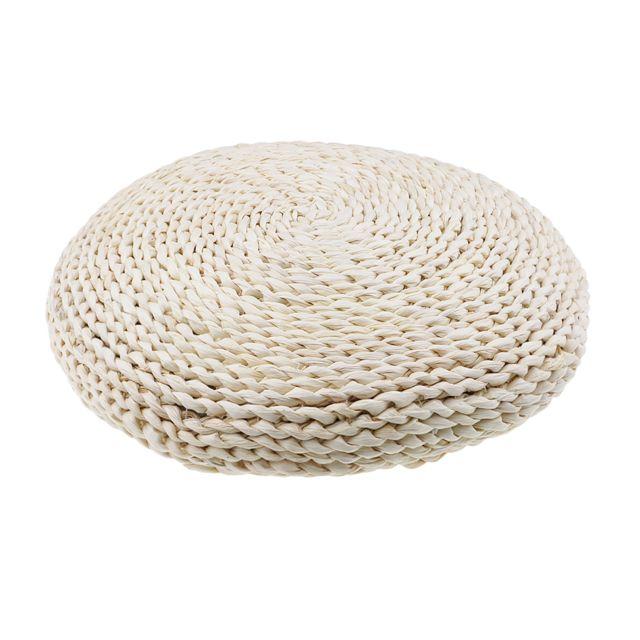 nouveau naturel paille ronde pouf tatami coussin meditation tapis de yoga zafu