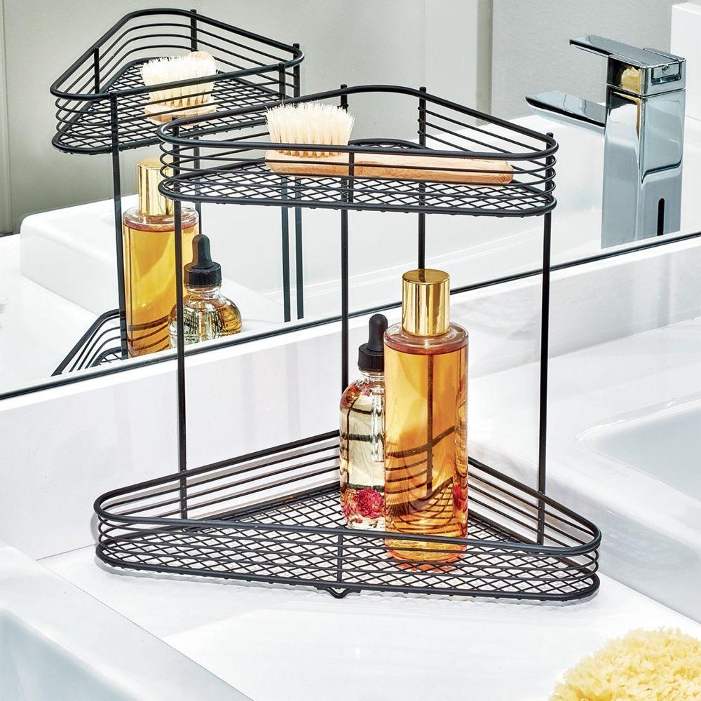 interdesign etagere de coin pour salle de bain interdesign