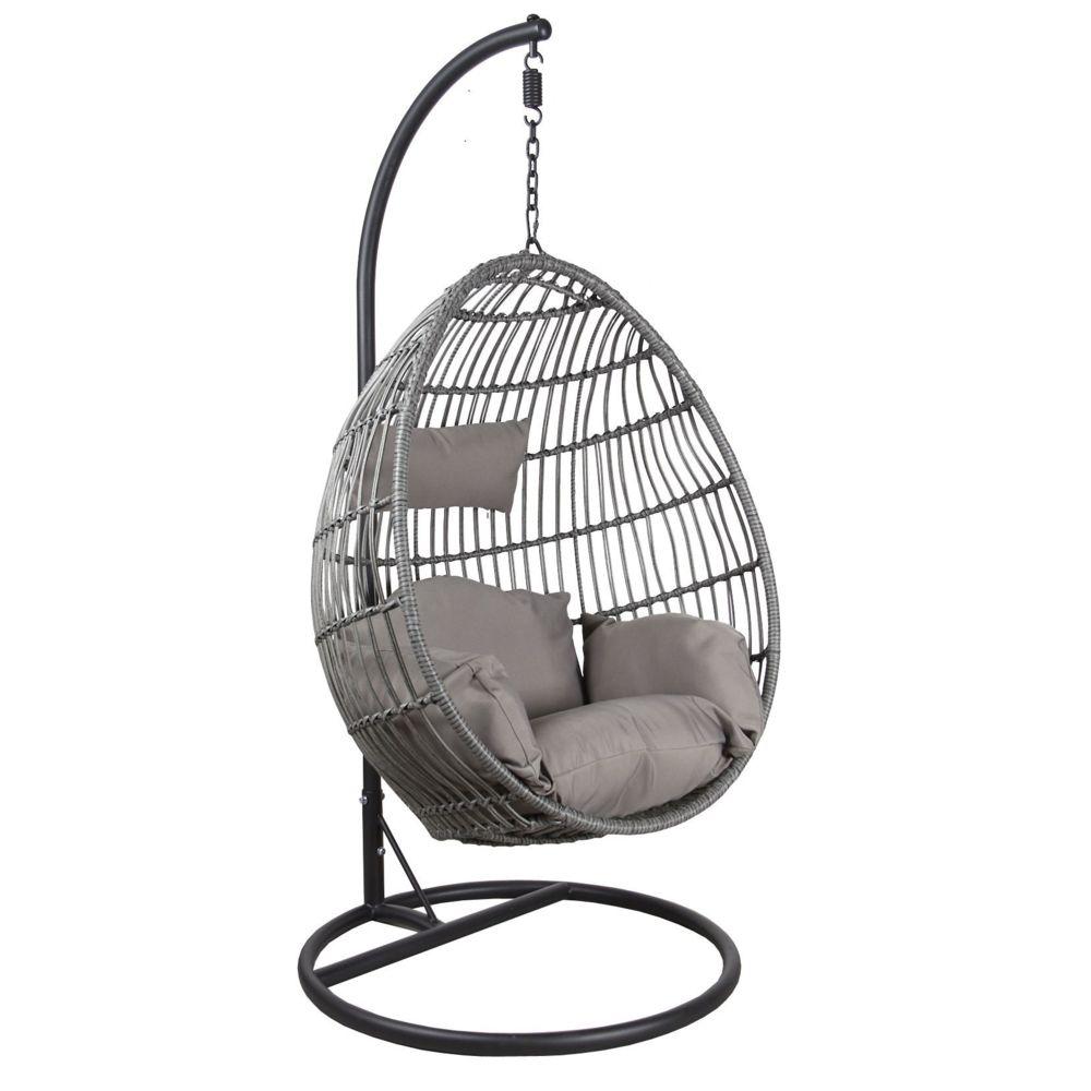 aubry gaspard fauteuil oeuf reglable en polyresine et acier