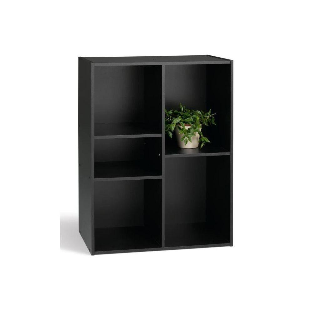 marque generique icaverne petit meuble de rangement compo meuble de rangement 5 cases noir l 61 cm