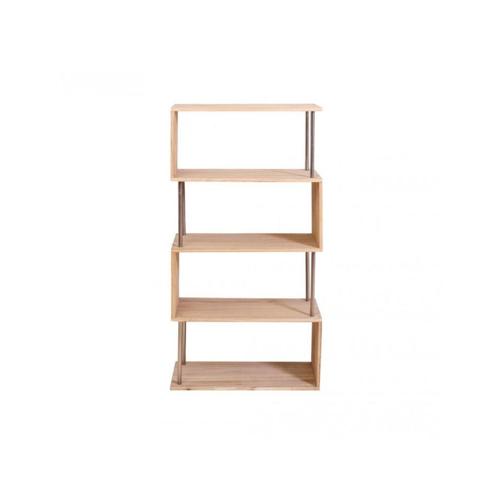 mobili rebecca etageres bibliotheque 4 etagere bois naturel vintage rangement chambre salon