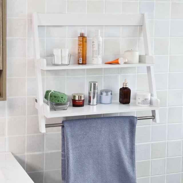 sobuy frg117 w etagere murale porte serviettes salle de bain toilettes avec 2
