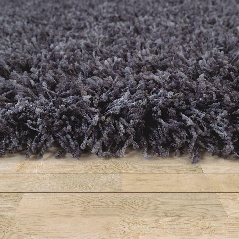 paco home tapis shaggy salon gris