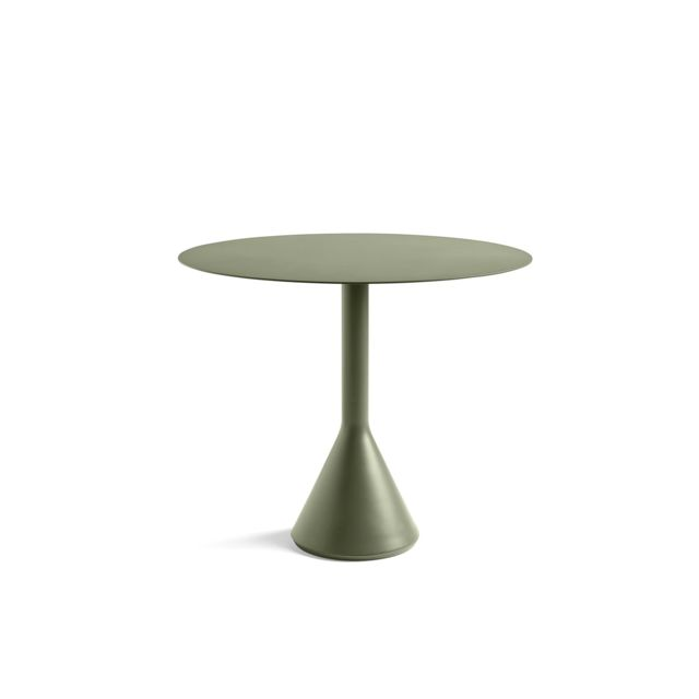 table ronde palissade cone vert olive o 90 cm