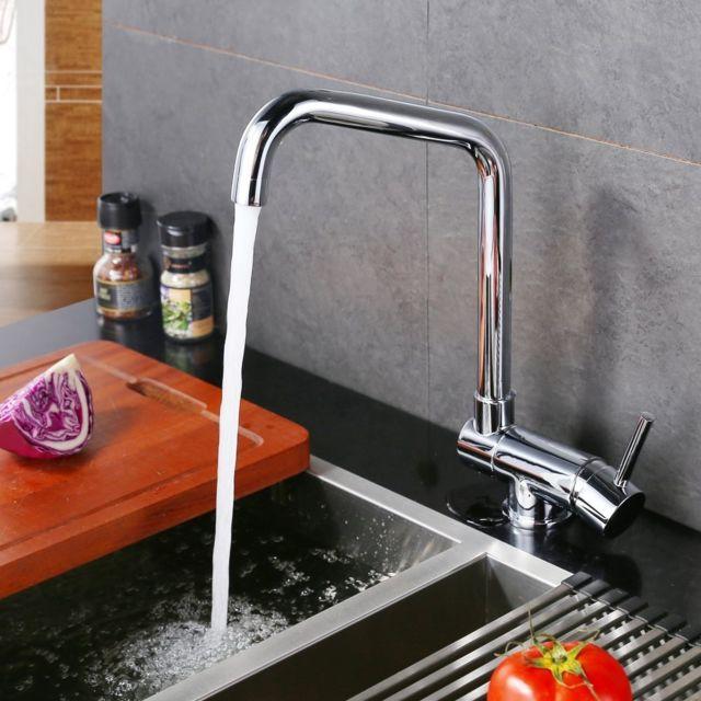 robinet de cuisine mitigeur sous fenetre pliable rabattable bec rotatif