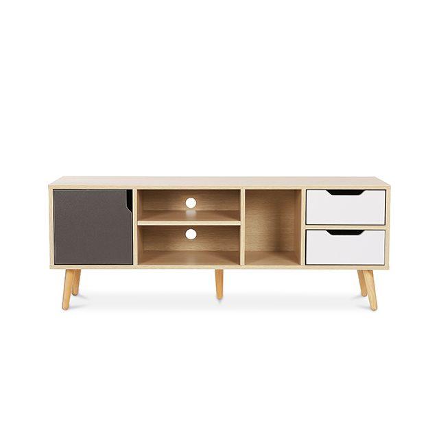 meuble de tv buffet style scandinave aren bois