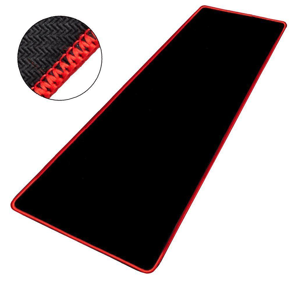 https www rueducommerce fr produit cabling tapis de souris gaming xxl grand sous main bureau tapis souris gamer 580x300x4mm noir contour rouge 78600778