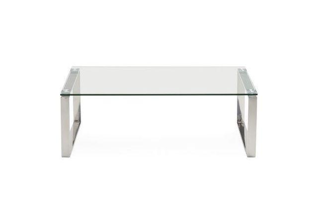 table basse en verre transparent wyoming