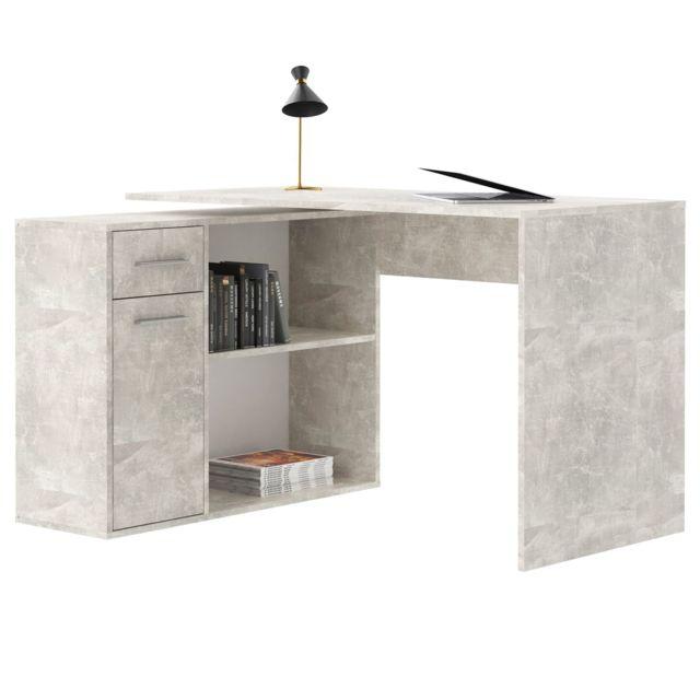 bureau d angle isotta table avec meuble de rangement integre et modulable avec