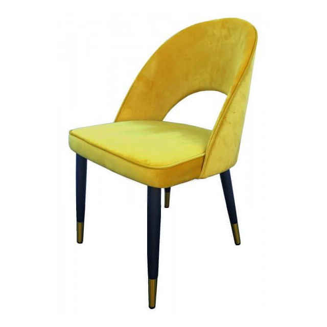 ardec chaise de salle a manger en velours jaune