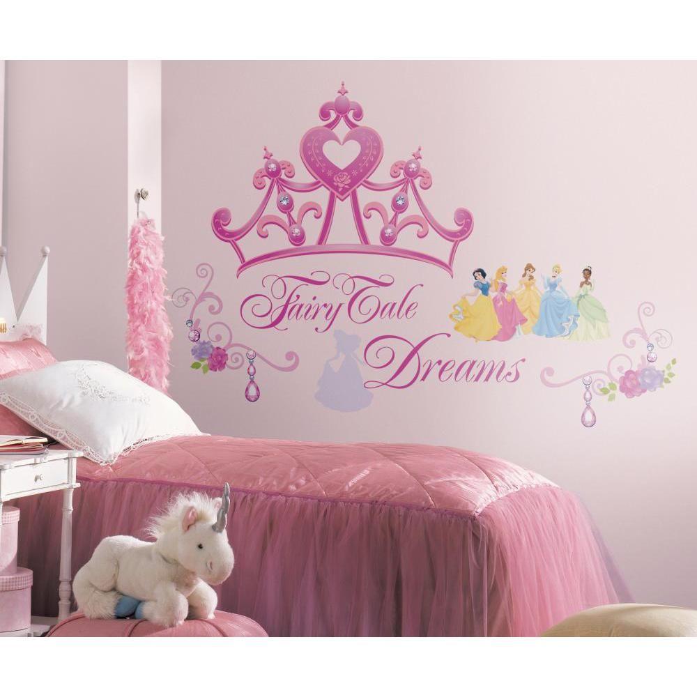 mon beau tapis stickers disney couronne princesse geant roommates repositionnables 56x43cm