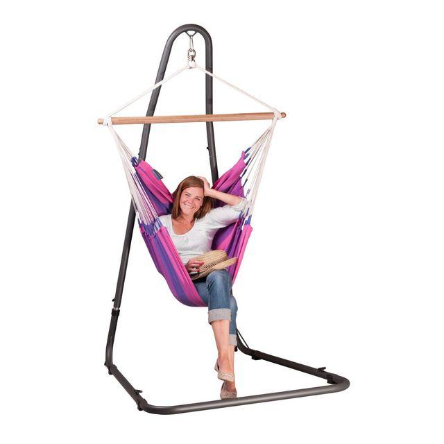 la siesta chaise hamac basic orquidea purple support pour chaise hamac