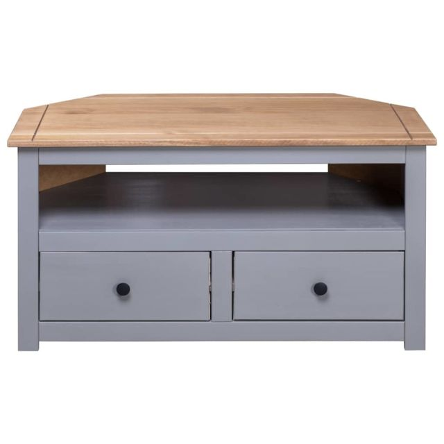 uco uco meuble tv d angle gris 93x55x49cm pin solide assortiment panama