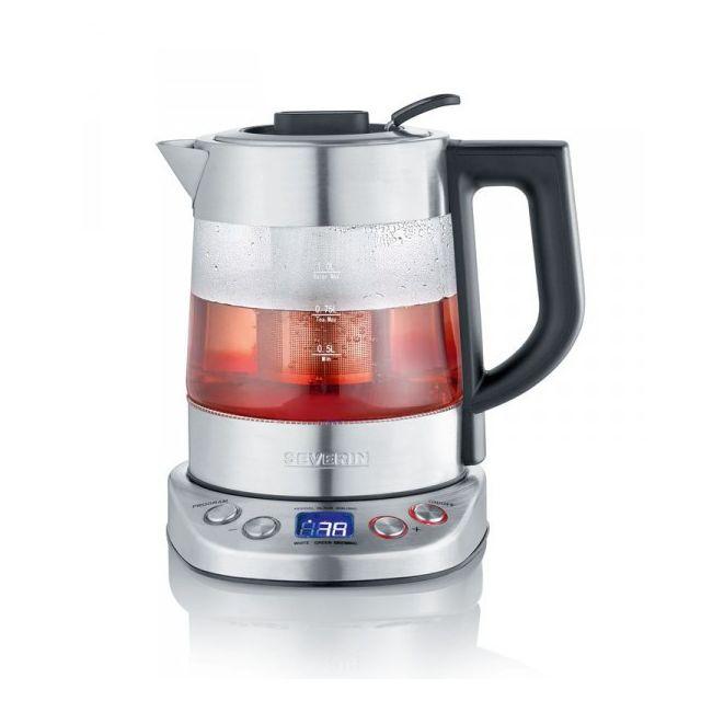 severin bouilloire eau the en verre 1l 2200w wk3473