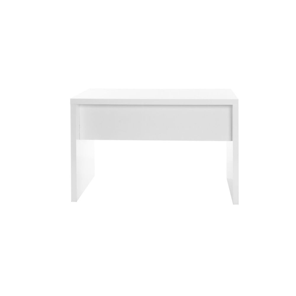 miliboo bureau design blanc laque