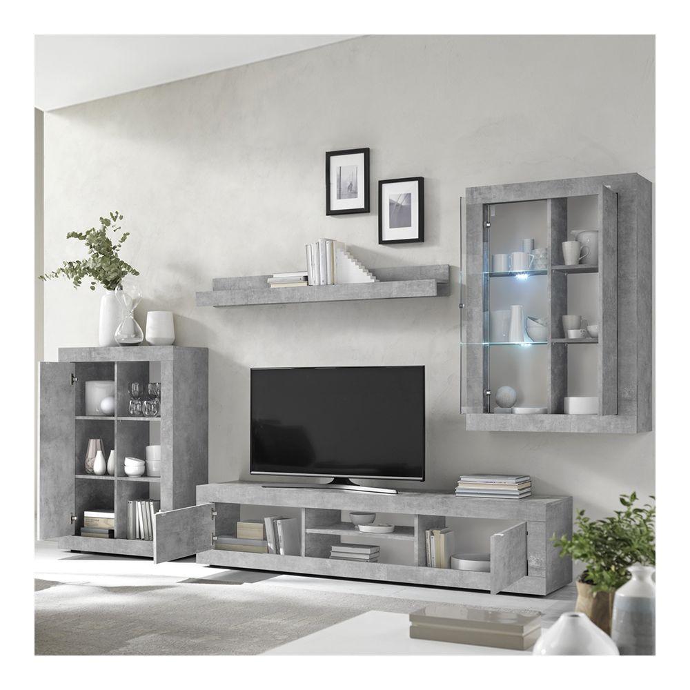 kasalinea ensemble meuble tv design effet beton gris ariel 4