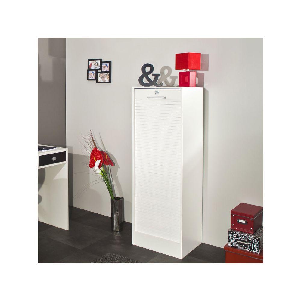 rideaux en bois hauteur 138 cm blanc