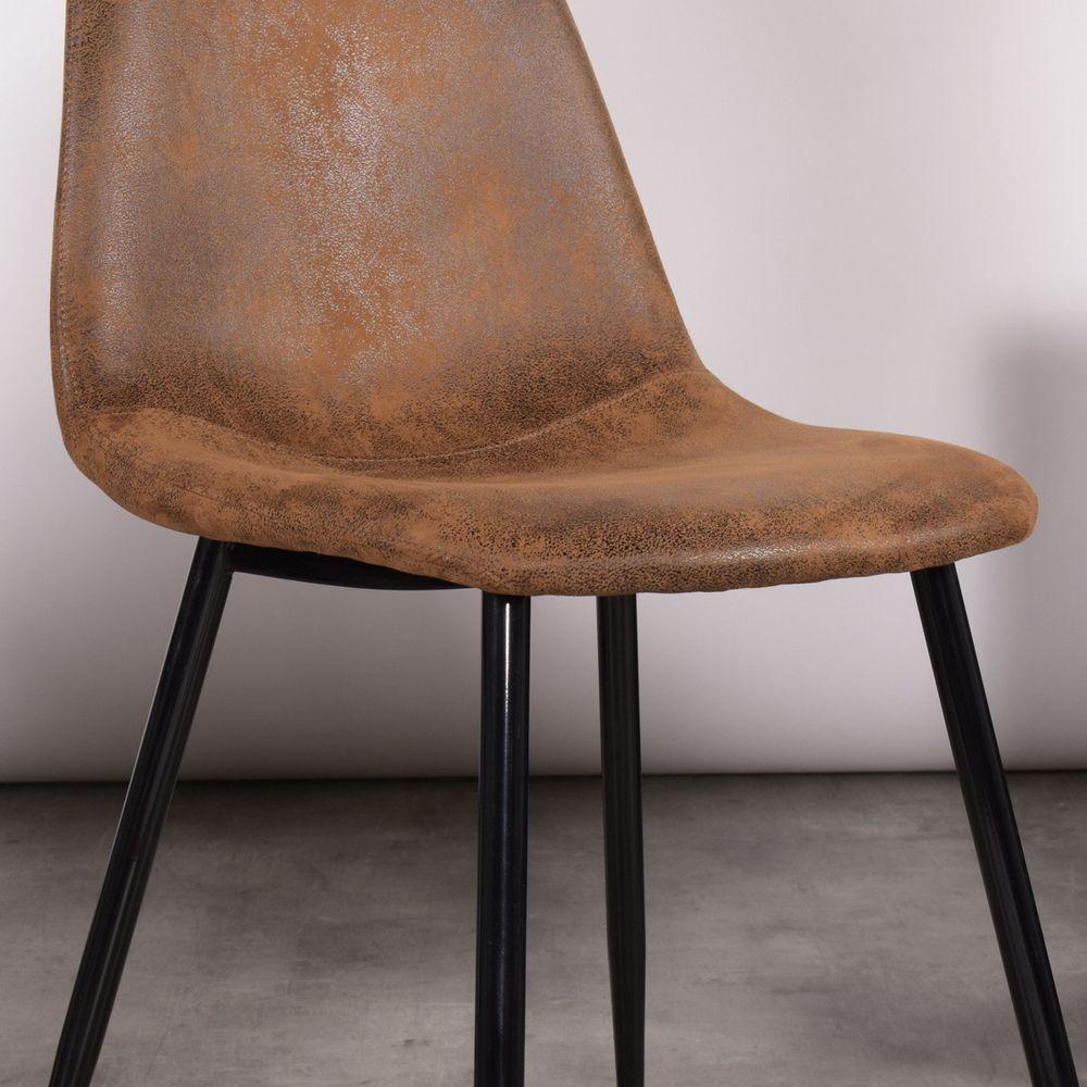 4 chaises scandinave marron suede