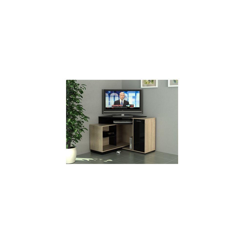 meuble tv d angle amael avec rangements