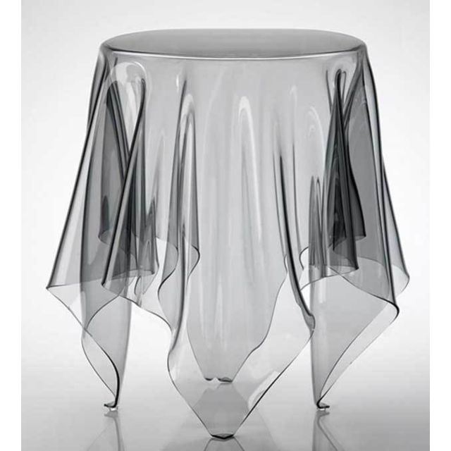 table d appoint en polycarbonate transparent design darina