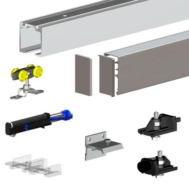 pack premium slid up 160 pour porte coulissante jusqu a 1500 mm rail 3 m 60