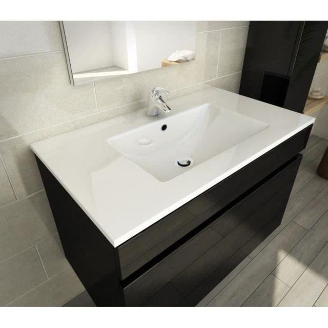 salle de bain complete luna ensemble salle de bain simple vasque l 80 cm noir