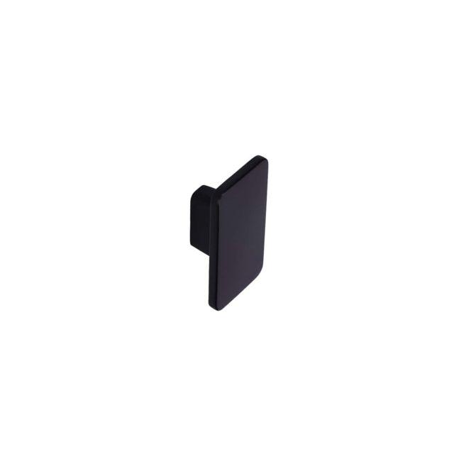bouton pour meuble siro zamak 140 x 86 mm noir mat
