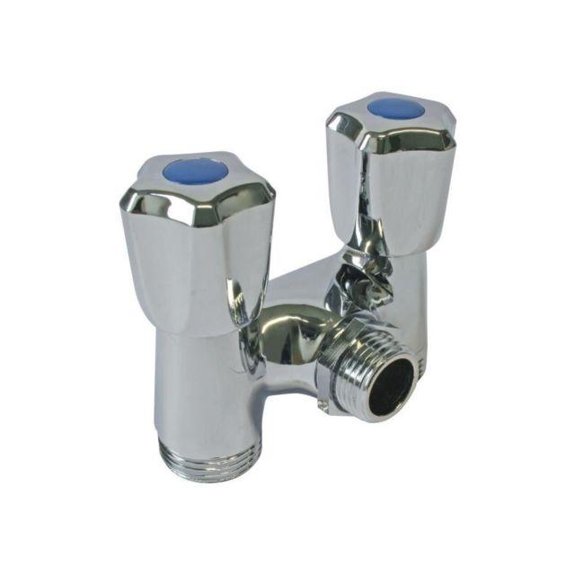 somatherm robinet double pour machine a laver arrivee o 1 2 sortie o 3 4