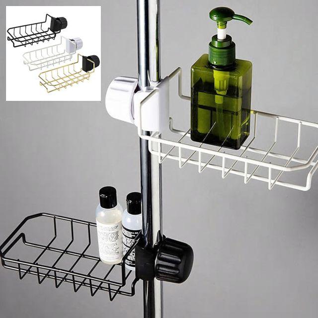 support etagere rangement porte savon sur robinet evier cuisine salle de bains