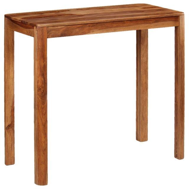 vidaxl bois sesham massif table de bar table a manger meuble de salon cuisine