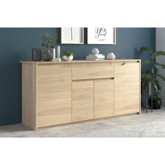 buffet bahut enfilade betty buffet bas contemporain decor chene l 185 cm