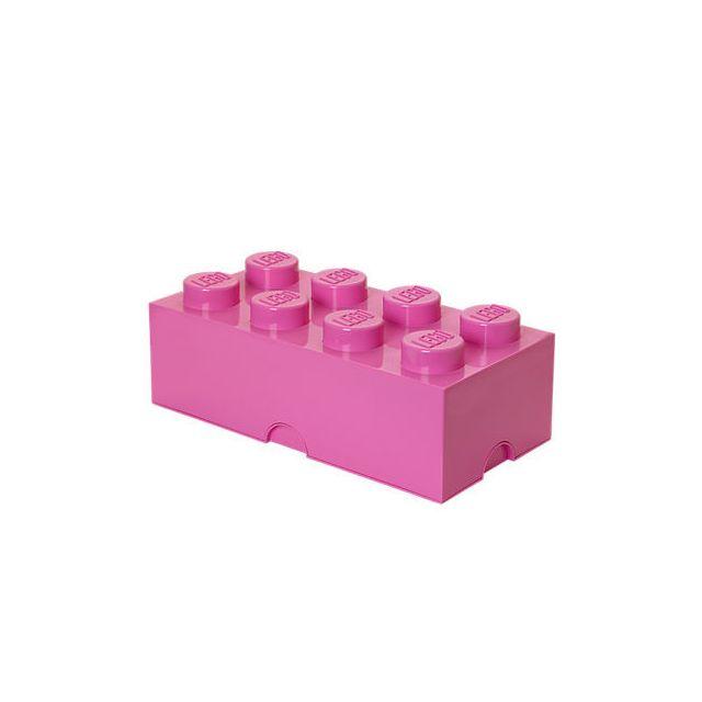 brique de rangement 8 tenons rose